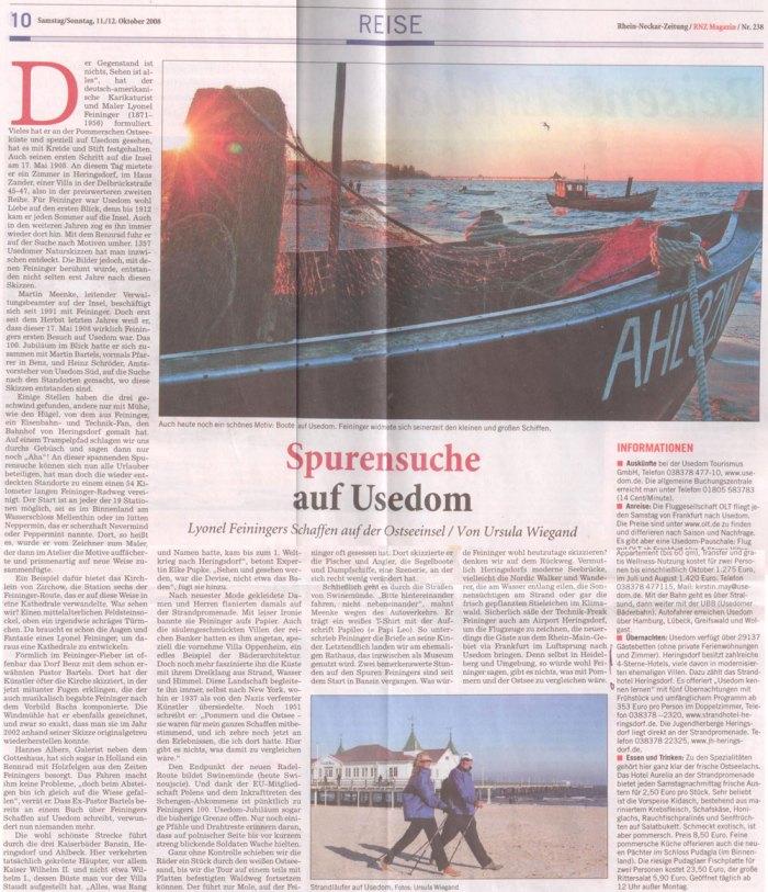 Rhein-Neckar-Zeitung 10./11.10.08