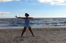 Yoga am Ostseestrand